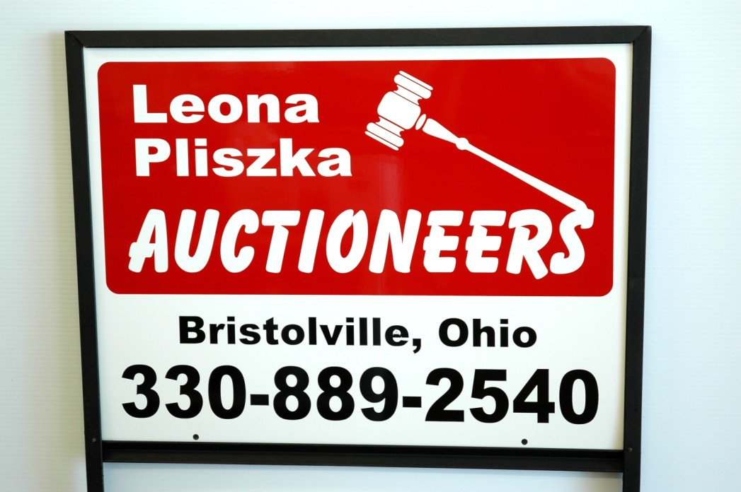 Auction Yard Sign