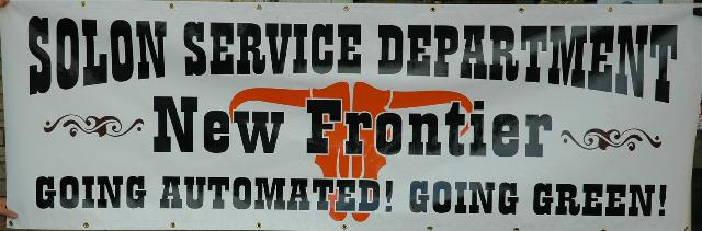 Solon Service Department Signage