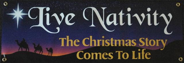 Live Nativity Sign