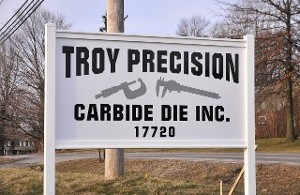 Troy Precision Sign