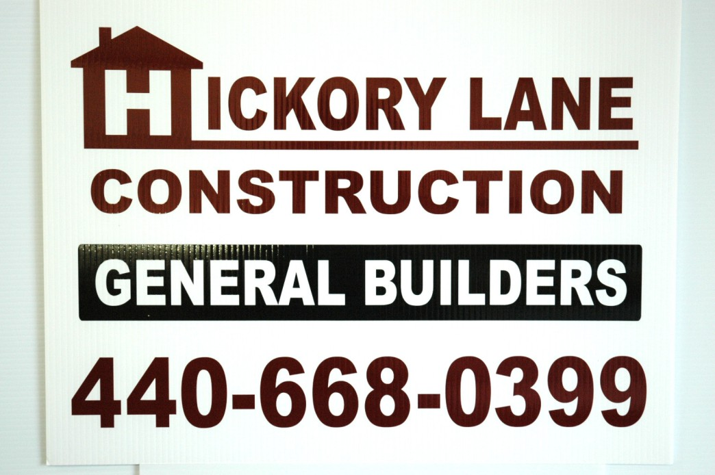 Hickory Lane Construction Sign
